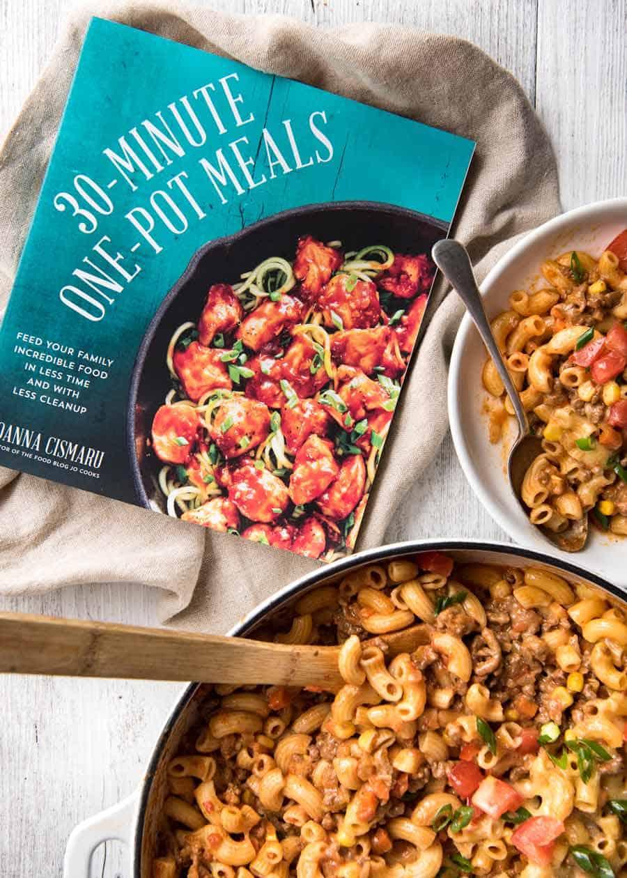 Jo Cooks 30 Minute One Pot Meals cookbook - Cheeseburger Casserole / Homemade Hamburger Helper recipe