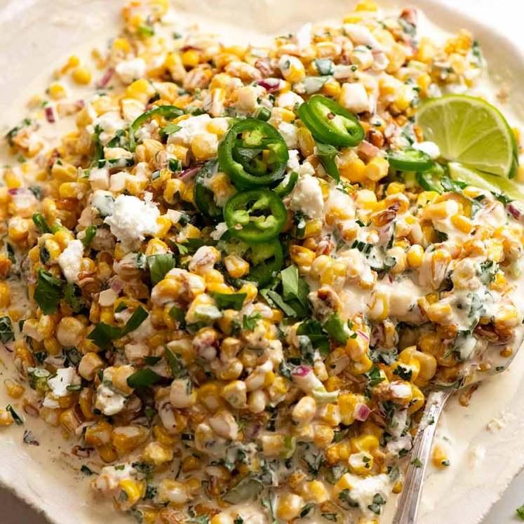 Overhead photo of Mexican Corn Salad