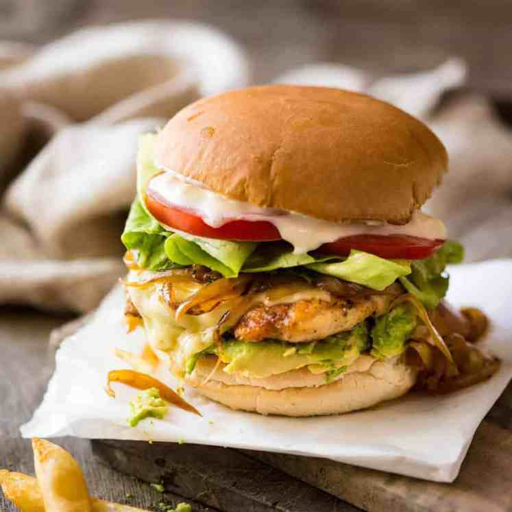 Super tasty, quick Chicken Burger recipe made with chicken breast. It's all in the seasoning! Great for grilling too. www.recipetineats.com