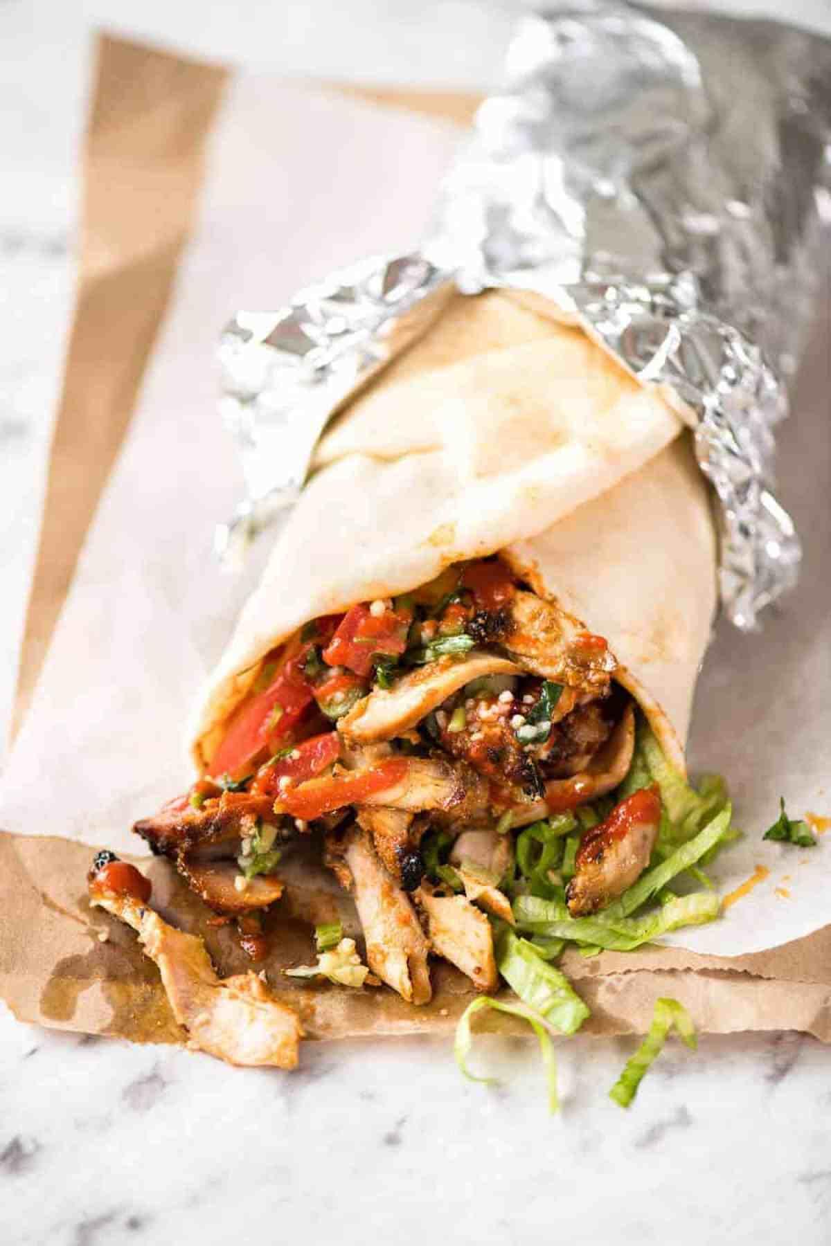Homemade Chicken Doner Kebab - the better version of the midnight post-pub kebab runs! www.recipetineats.com