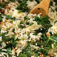 Garlic Butter Rice with Kale