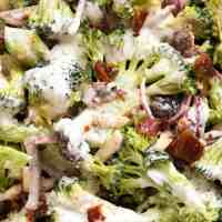 Broccoli Salad with Lighter Creamy Dressing
