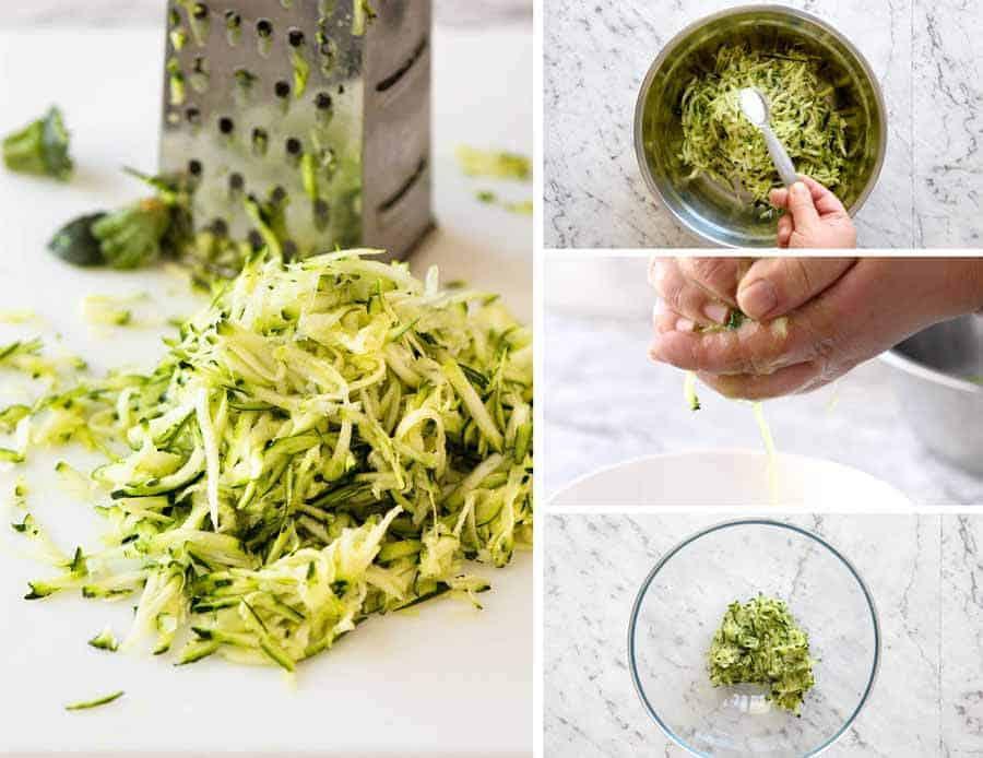 Preparing Zucchini for Crispy Fritters