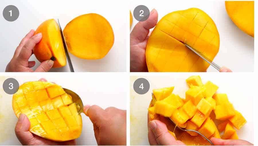 How to dice mango