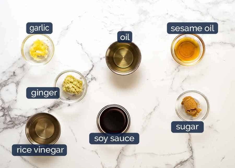 What goes in Asian Salad Dressing
