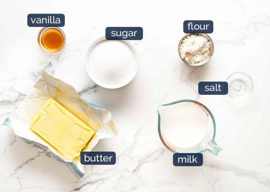 Ingredients in Fluffy Vanilla Frosting - Ermine Frosting