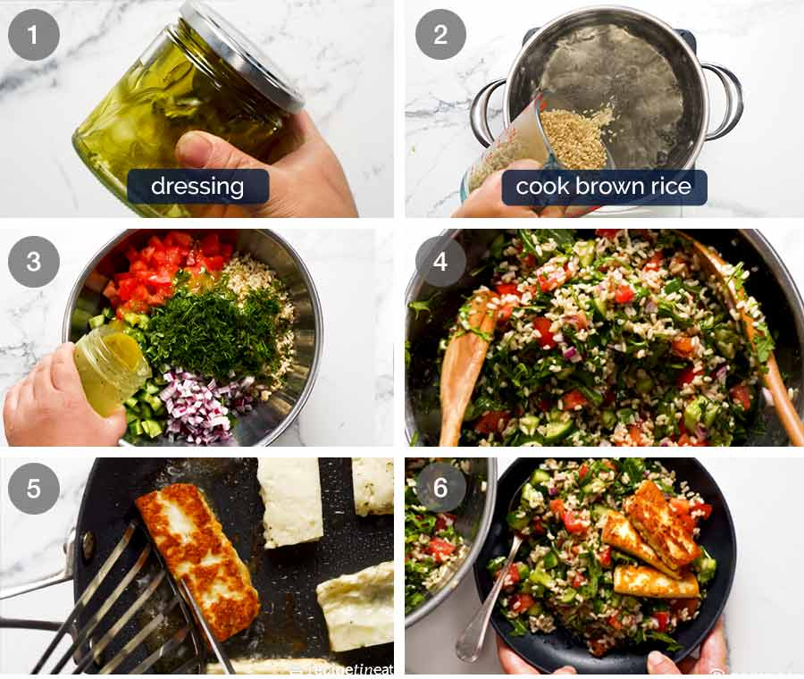 How to make Brown Rice Salad