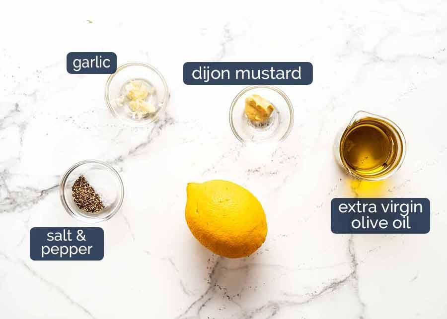 Ingredients in Lemon Dressing for Brown Rice Salad