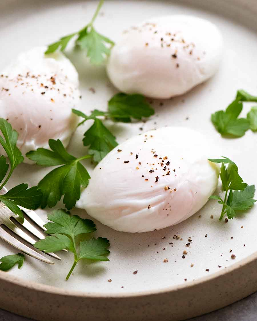 Poached Eggs on a plate