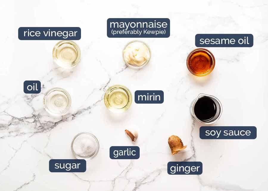 Ingredients for Quinoa Salad dressing