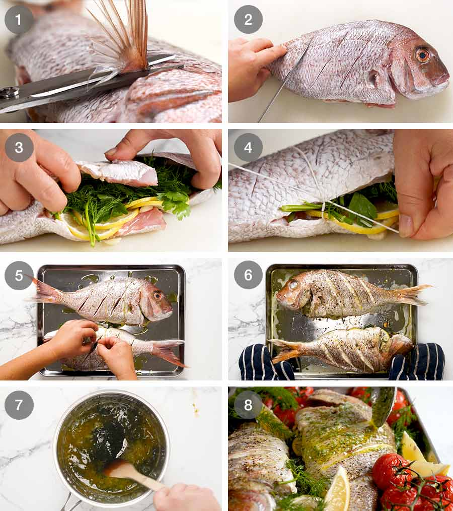 How to make whole baked fish