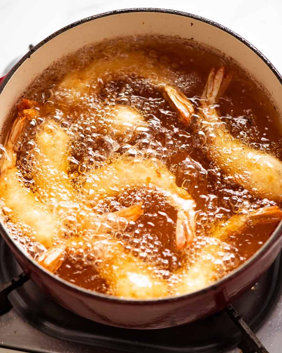 Cooking crispy sticky Honey Prawns