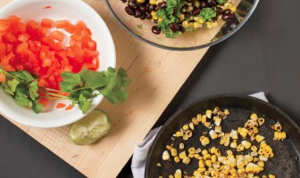 Pan-Roasted Corn Salad with Black Beans