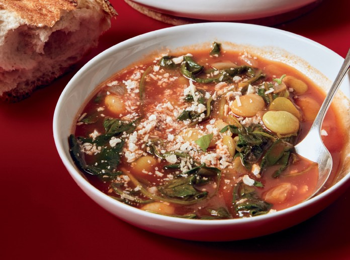 Frozen Beans and Greens Soup
