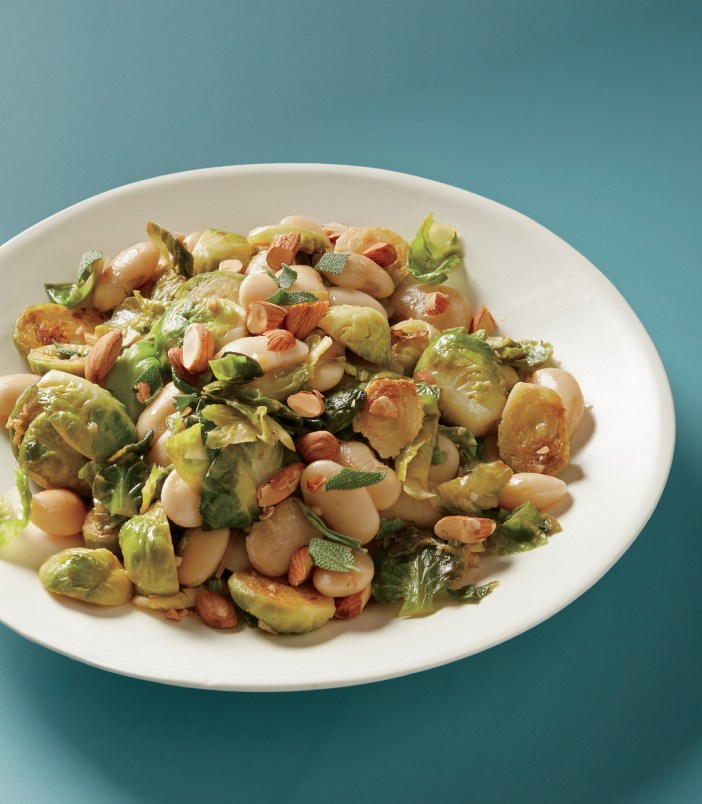 Gigantes with Brussels Sprouts