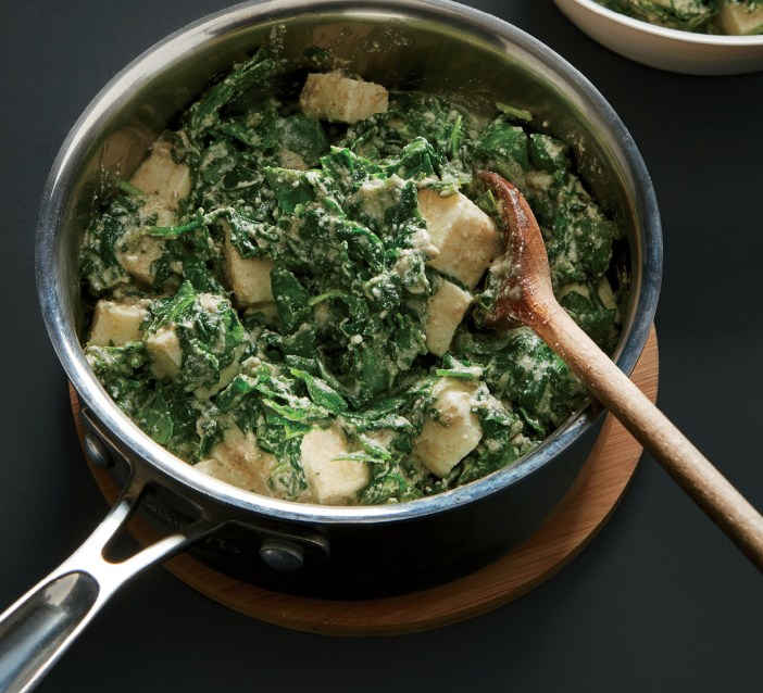 Spinach with Paneer and Yogurt