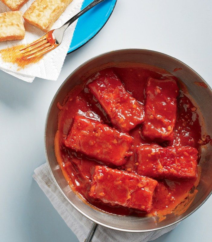 Spicy Ketchup-Braised Tofu
