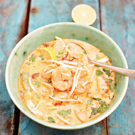 Tom Yum Kung with Thai Basil