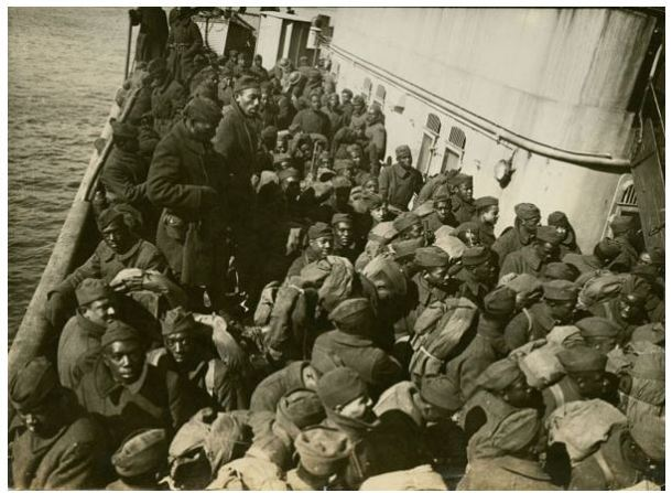 Soldiers Heading to France, courtesy NYPL
