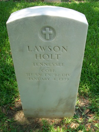 Headstone of Lawson Holt