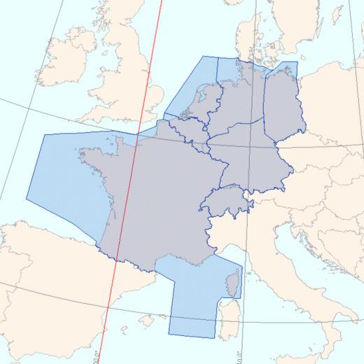 Espacio aéreo afectado por la huelga de controladores franceses.