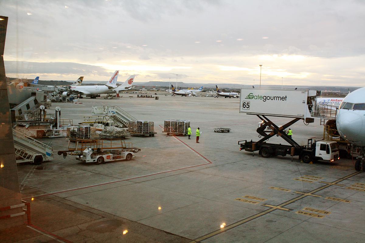 aviones de Air Europa en la pista del aeropuerto de Barajas