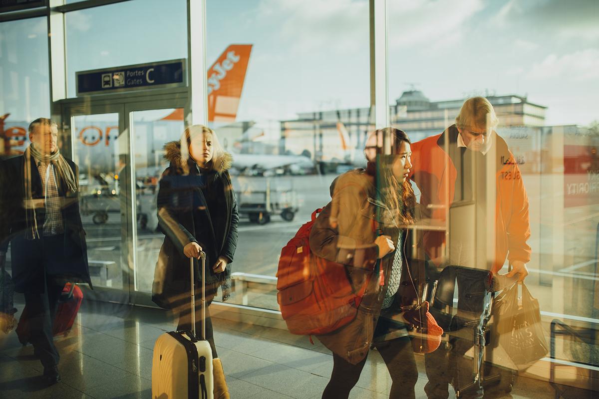 avión easyjet en el aeropuerto. Imagen de reclamador.es