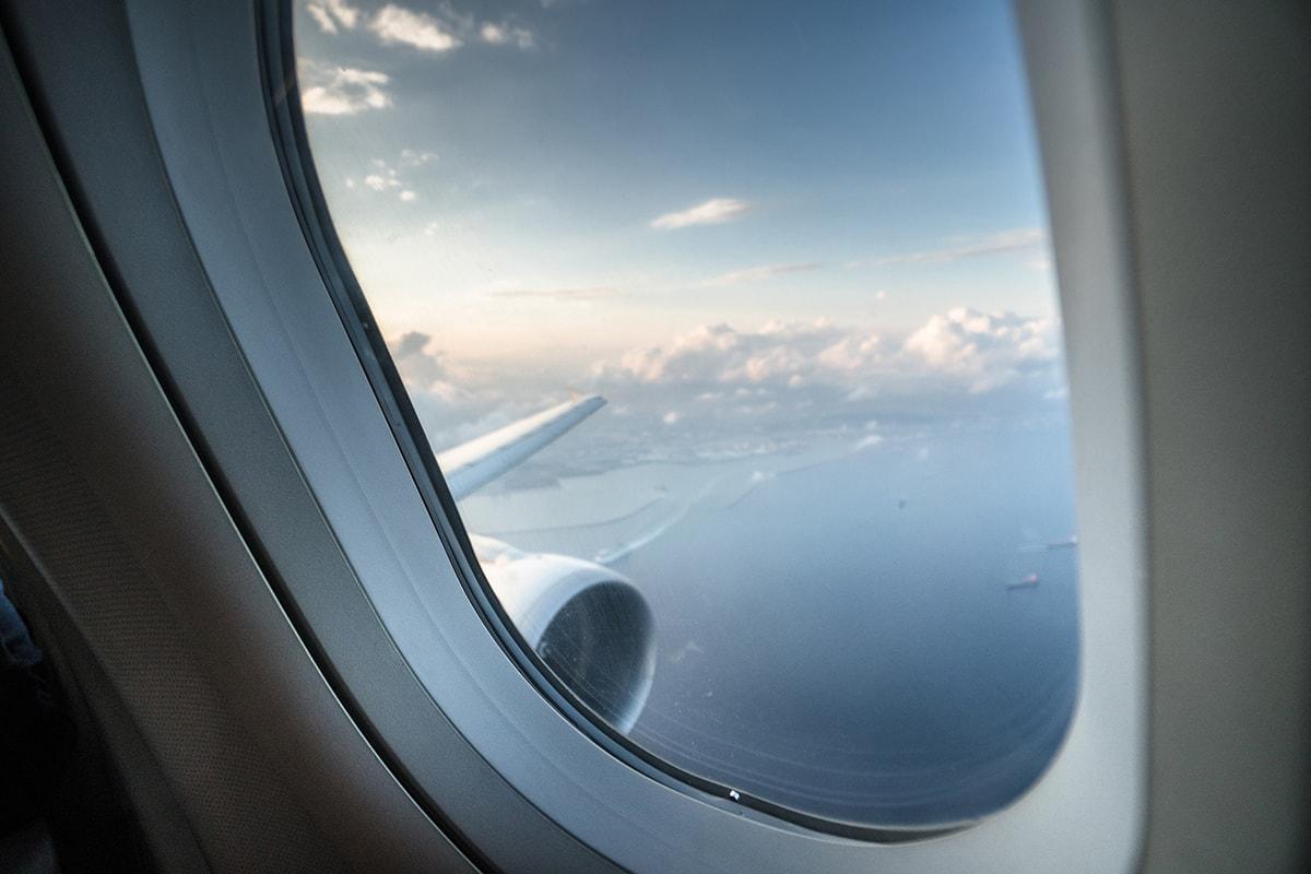 vista desde un vuelo retrasado en el puente de diciembre. foto de reclamador.es, compañía online de reclamaciones.