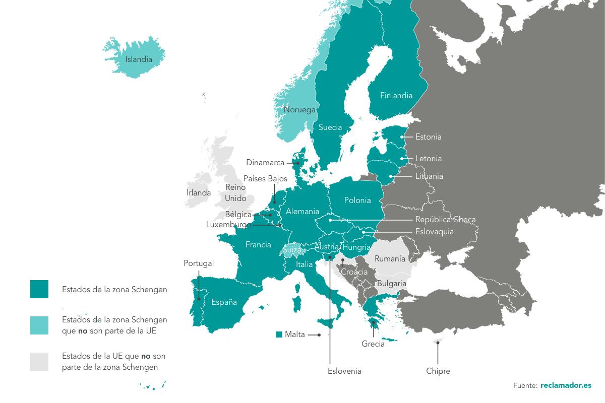 espacio Schengen reclamador