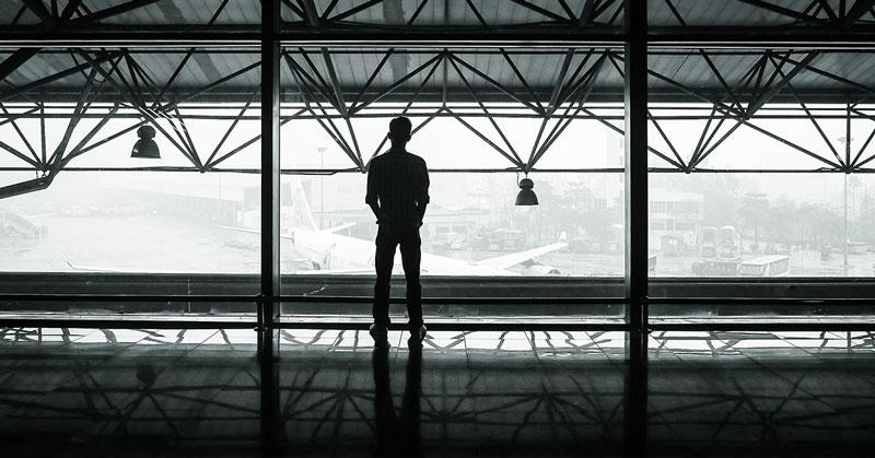 reclamador fotos en el aeropuerto