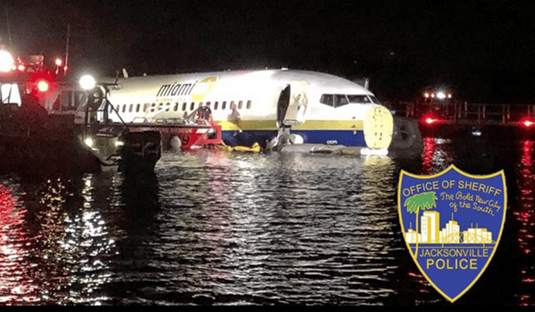 Aterrizaje de emergencia de un Boeing 737