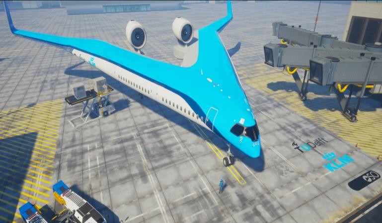 """""""Flying V"""" el avión comercial del futuro"""