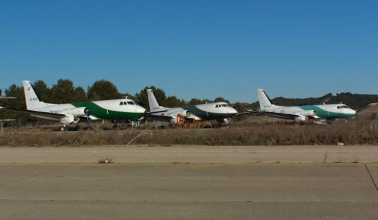 Aeropuertos convertidos en cementerios de aviones