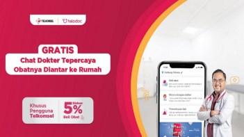 Kerja Sama Dengan Telkomsel, Halodoc Beri Diskon 5% untuk 3 bulan