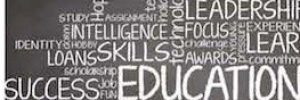 word cloud of many words emphasizing learning
