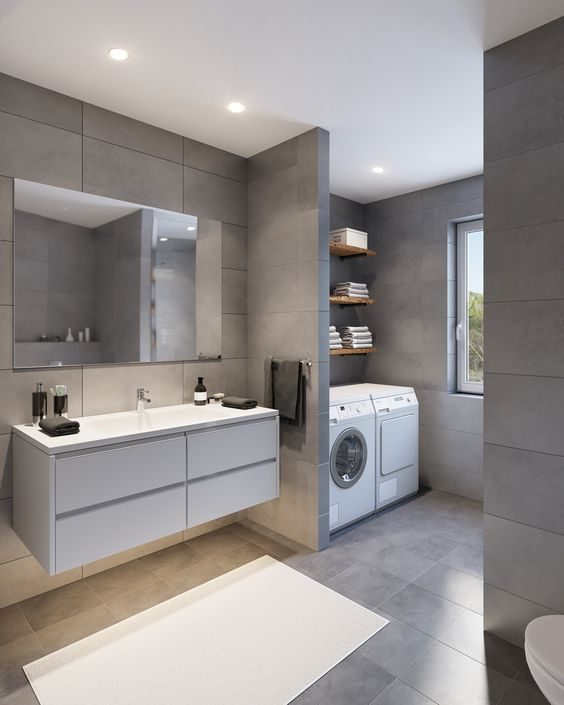 Small Bathroom-Laundry Ideas For Your Home   Recommend.my on Small Space Small Bathroom Ideas With Washing Machine id=87466