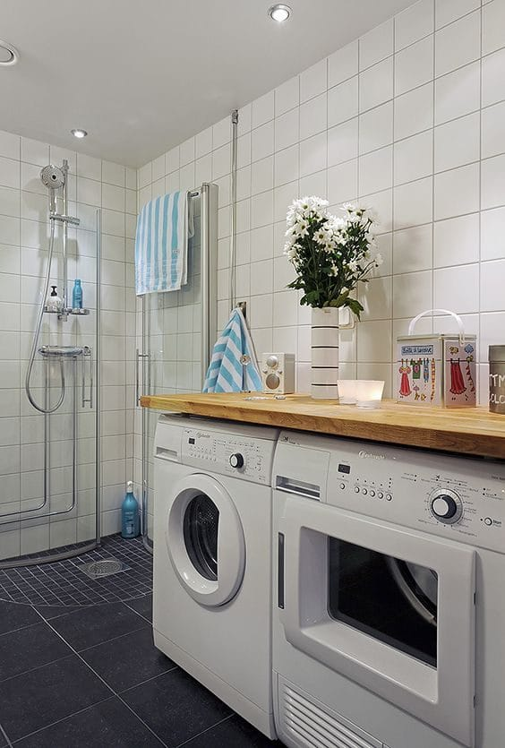 Small Bathroom-Laundry Ideas For Your Home   Recommend.my on Small Space Small Bathroom Ideas With Washing Machine id=77012