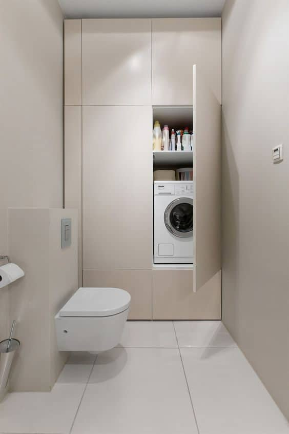 Small Bathroom-Laundry Ideas For Your Home   Recommend.my on Small Space Small Bathroom Ideas With Washing Machine id=26381