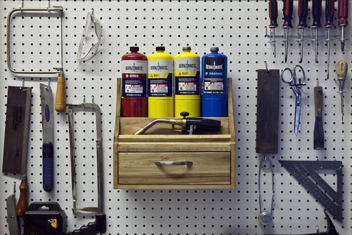 DIY: Build A Pegboard Blowtorch Holder