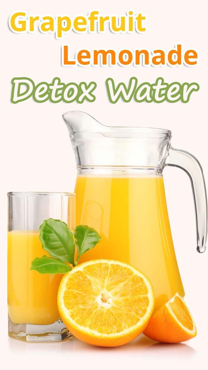 Grapefruit Lemonade Detox Water