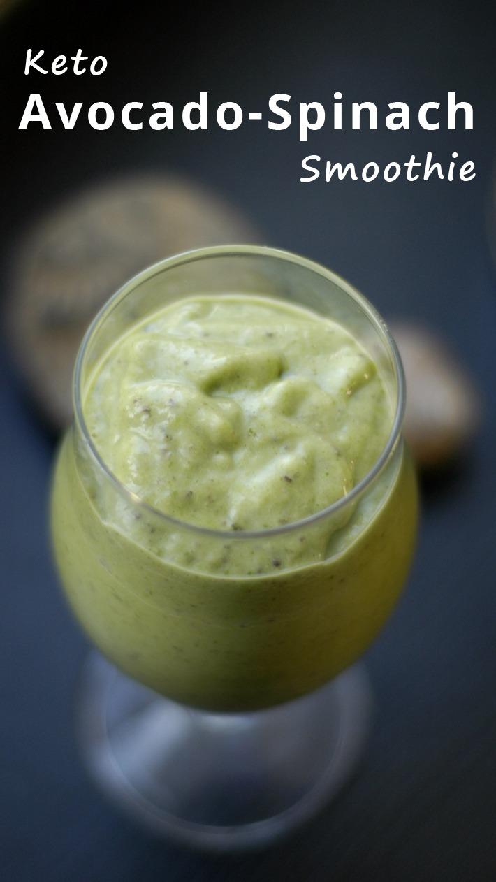 Keto Avocado Spinach Smoothie