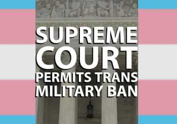 Trans Military Ban Moves Forward