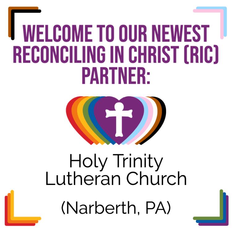 A New RIC Community: Holy Trinity Lutheran Church (Narberth, PA)