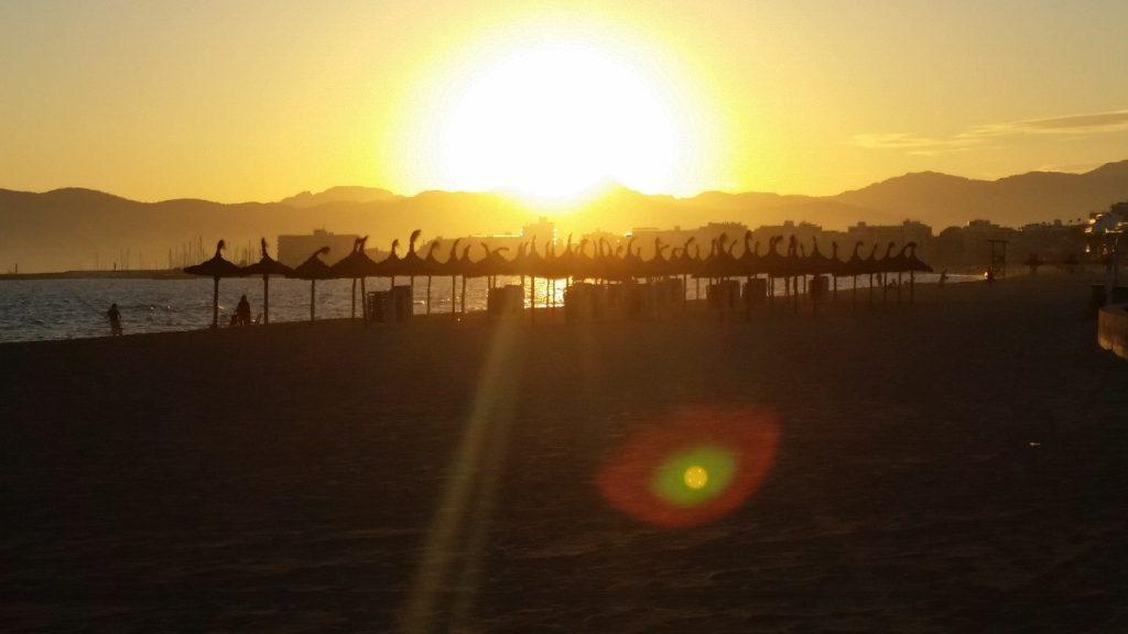 Solnedgång på resa