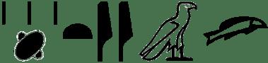 hieroglyphs of XAyt - pile of corpses