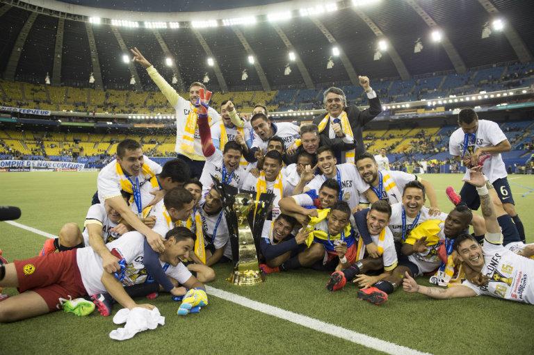 América festeja título de Concacaf
