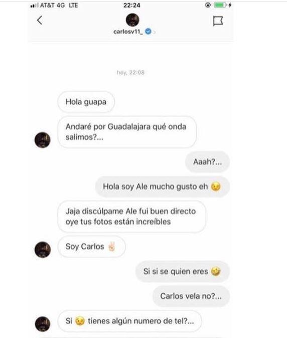 Conversación que compartió ALee Salinas