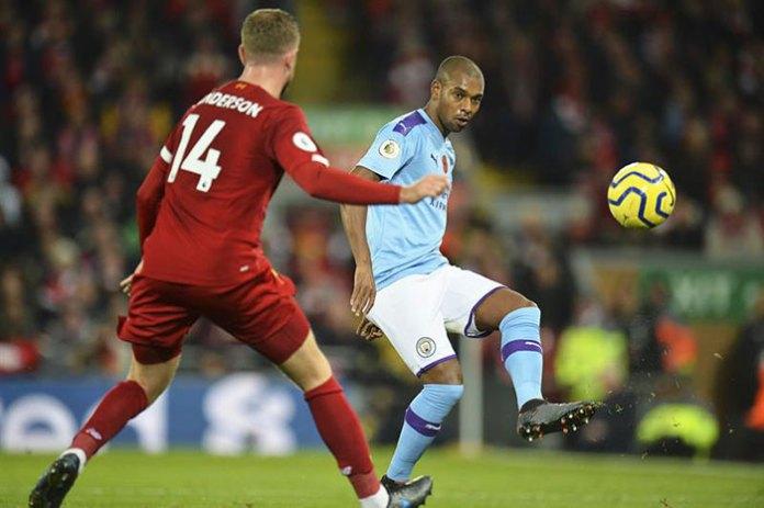 Fernandinho, in the match against Liverpool