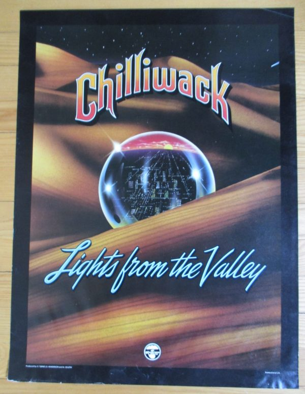 """CHILLIWACK Vintage 1978 Promo Poster Original """"Lights From The Valley"""" 24"""" x 18"""""""