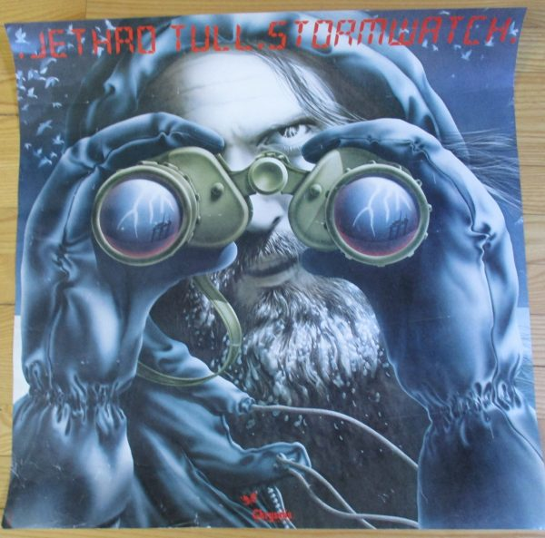 "JETHRO TULL Vintage 1979 ""STORM WATCH"" Promo Poster 24"" x 23"" Original"